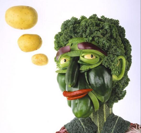 Vegetable Man face
